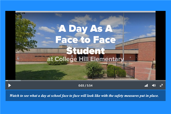 A Day As A Face To Face Student