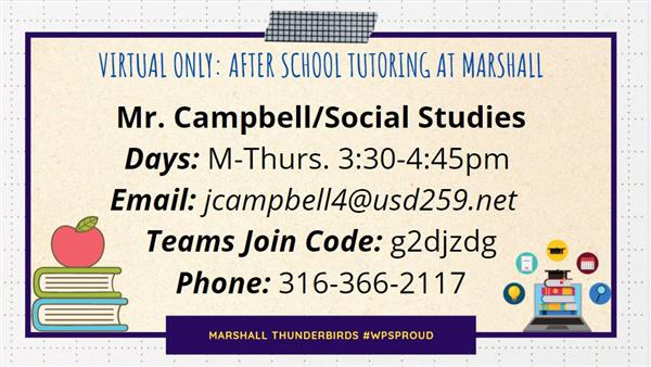 Social Studies tutoring