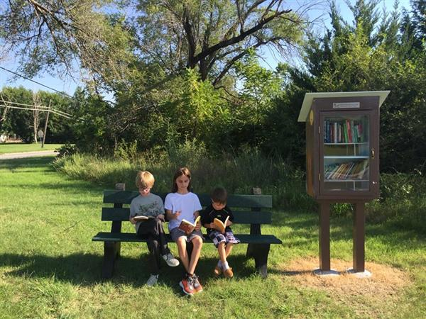Little Free Library is at Earhart!