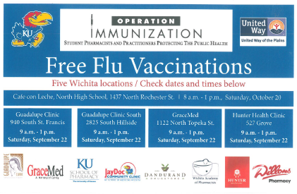 FREE Flu Vaccinations this Saturday, 9/22