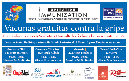 Spanish - Free Flu Immunizations this Saturday, Sept. 22!