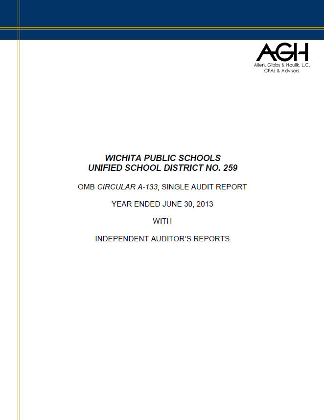 Single Audit FY13