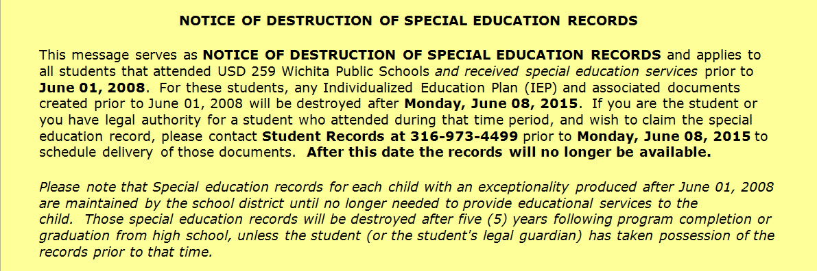 Student Records Enrollment Services Requesting Student Records