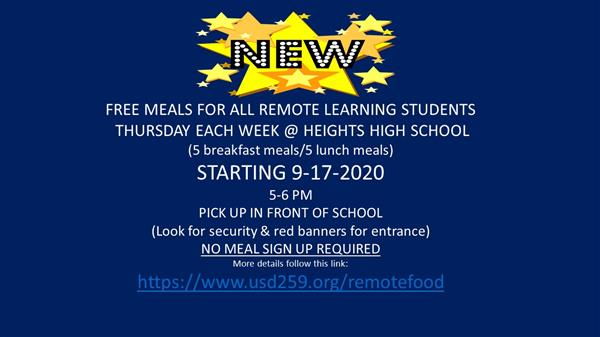 Meals for Remote Students!