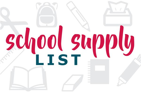 School Supply List graphic