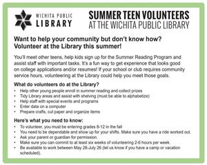 teen volunteer opp