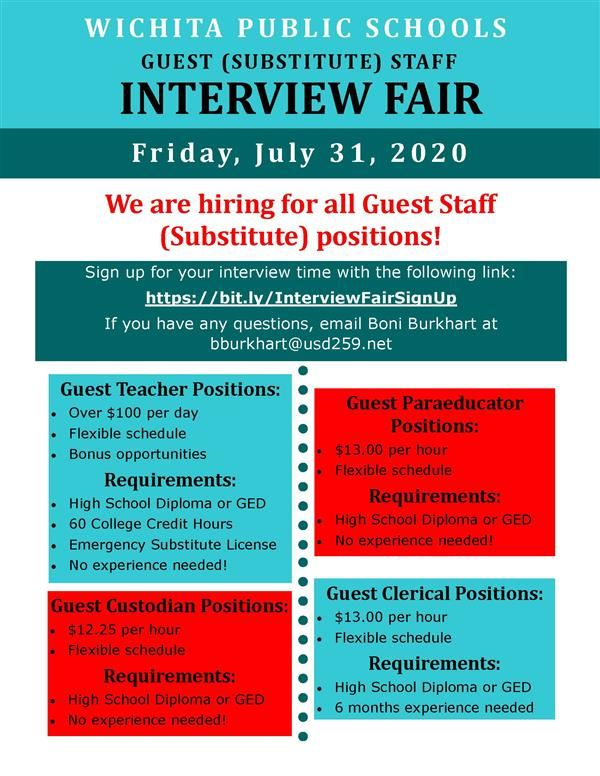 Interview Fair July 31