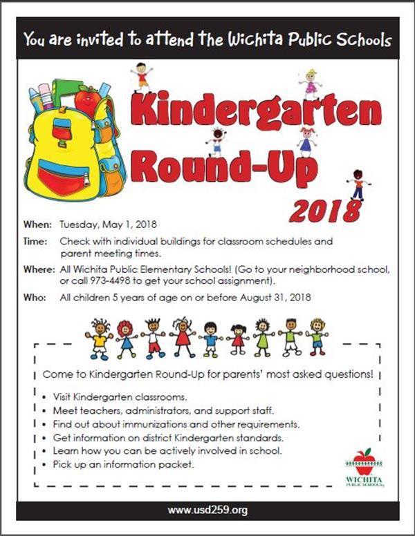 Kindergarten Round Up 2018 English