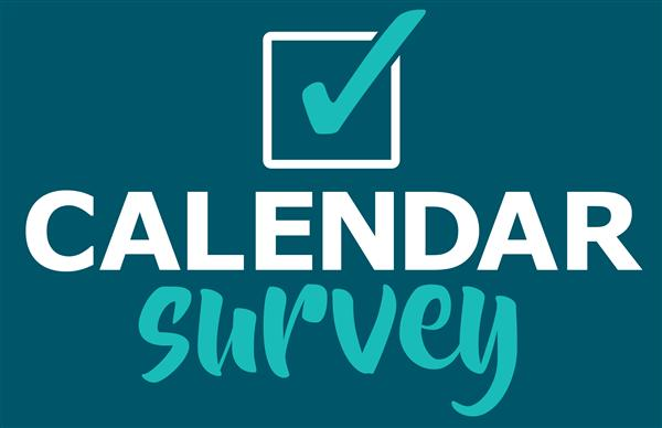 Calendar survey graphic