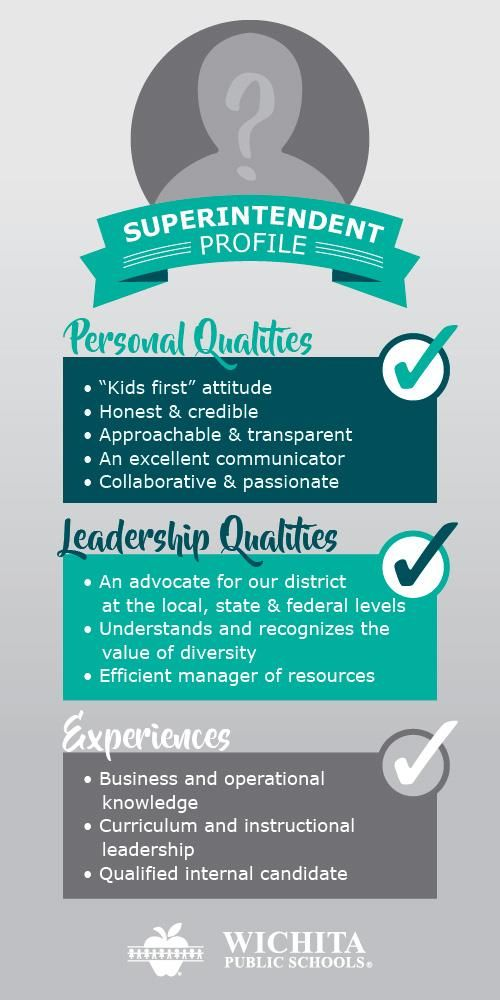 Superintendent qualities infographic